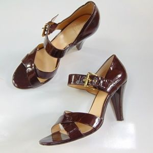 Joan & David Brown Patent Leather Size 8